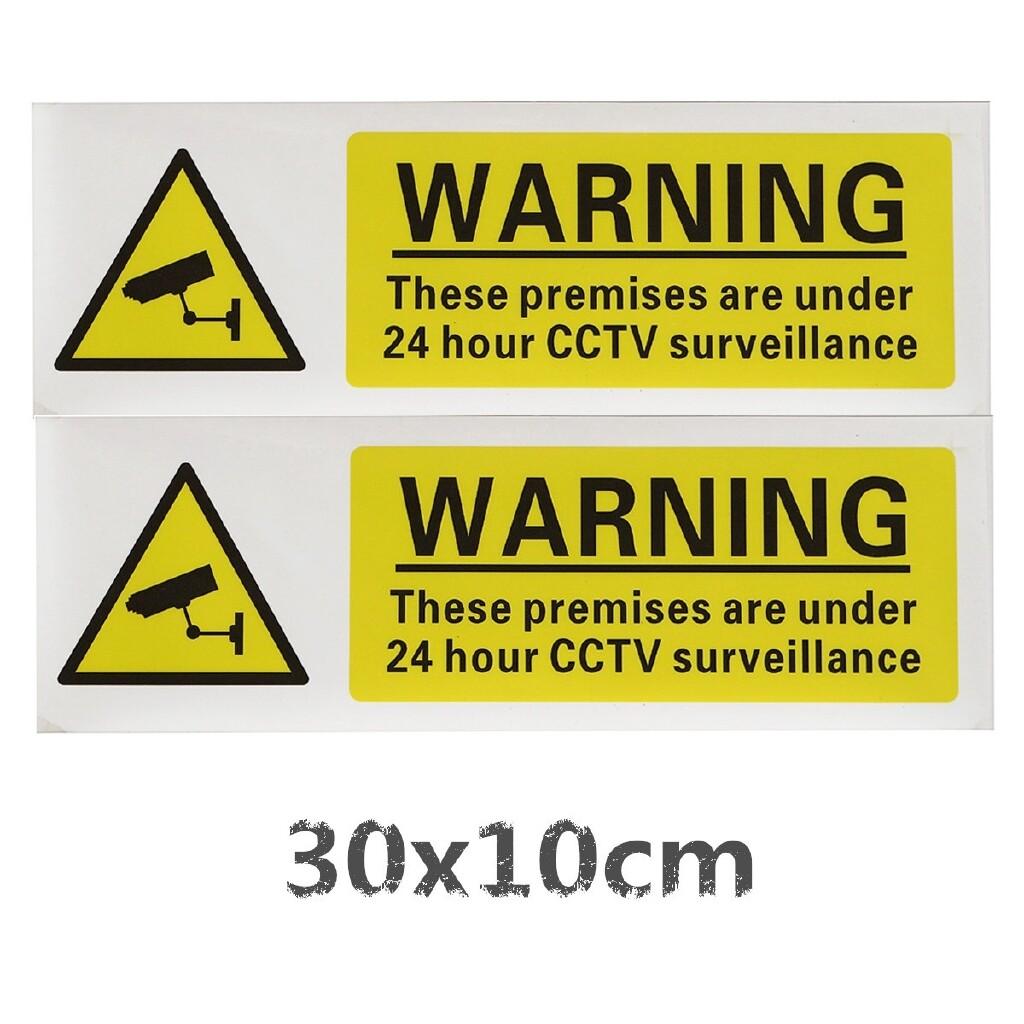 Car Stickers - 1 PIECE(s) 24 HOUR CCTV SURVEILLANCE Security Camera Sticker Vinyl Warning Decal Sign - Accessories