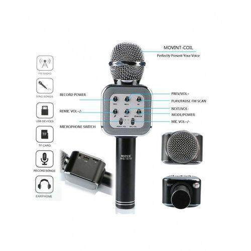 Wster WS1818 Bluetooth Hifi USB Microphone Bluetooth Wireless Microphone BLACK