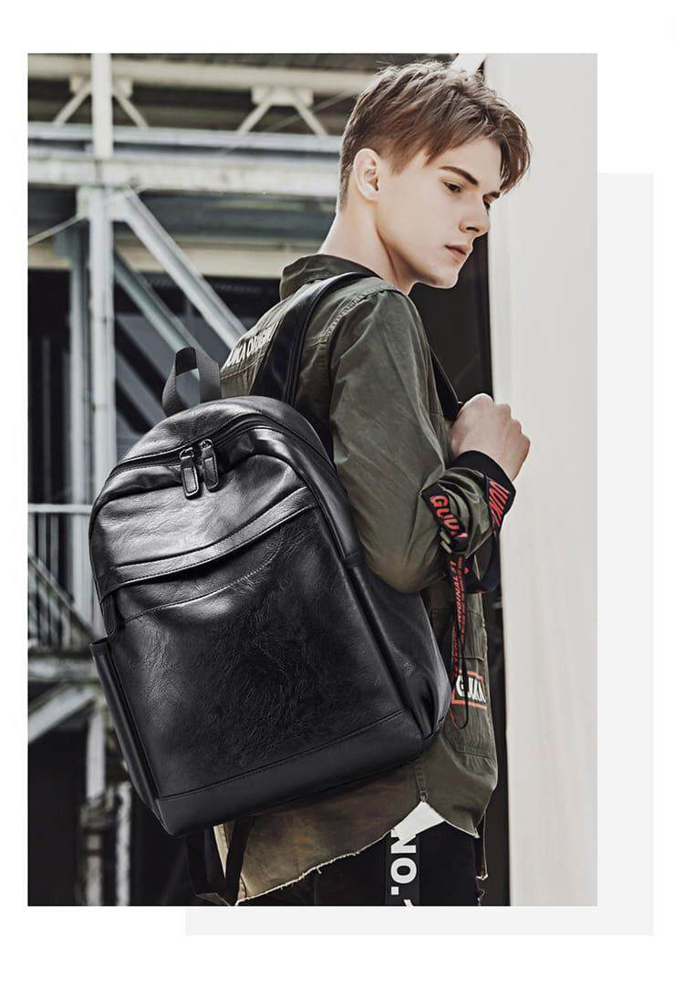 [M\'sia Warehouse Direct] 2019 Korean Series Leather Laptop Backpack Business Bag Multipurpose Multifunctional Water Proof Stylish Travel Sling Student Bag Italy Designer Perfect Gift For Love One Fit For Macbook Ipad Tab