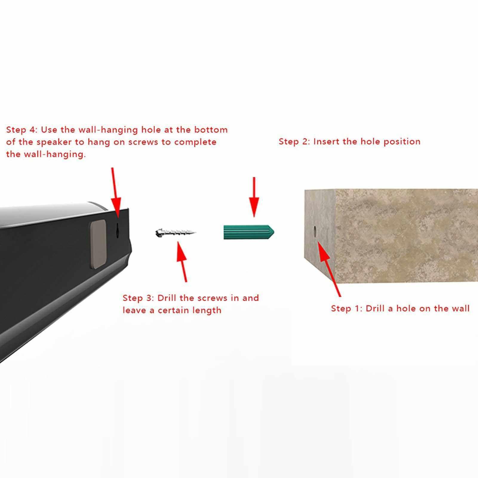 BS-41A Multifunction Sound Bar BT Speaker Home Theater Wall TV Surround Sound Sound-Stereo Wall-mounted Sound Machine Subwoofer Soundbar (Standard)