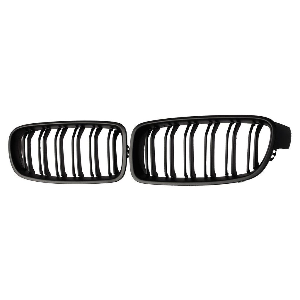 Car Lights - MATTE BLACK FRONT SPORT KIDNEY GRILL GRILLE For BMW M3 F30 F31 F35 3SERIES 1 - Replacement Parts