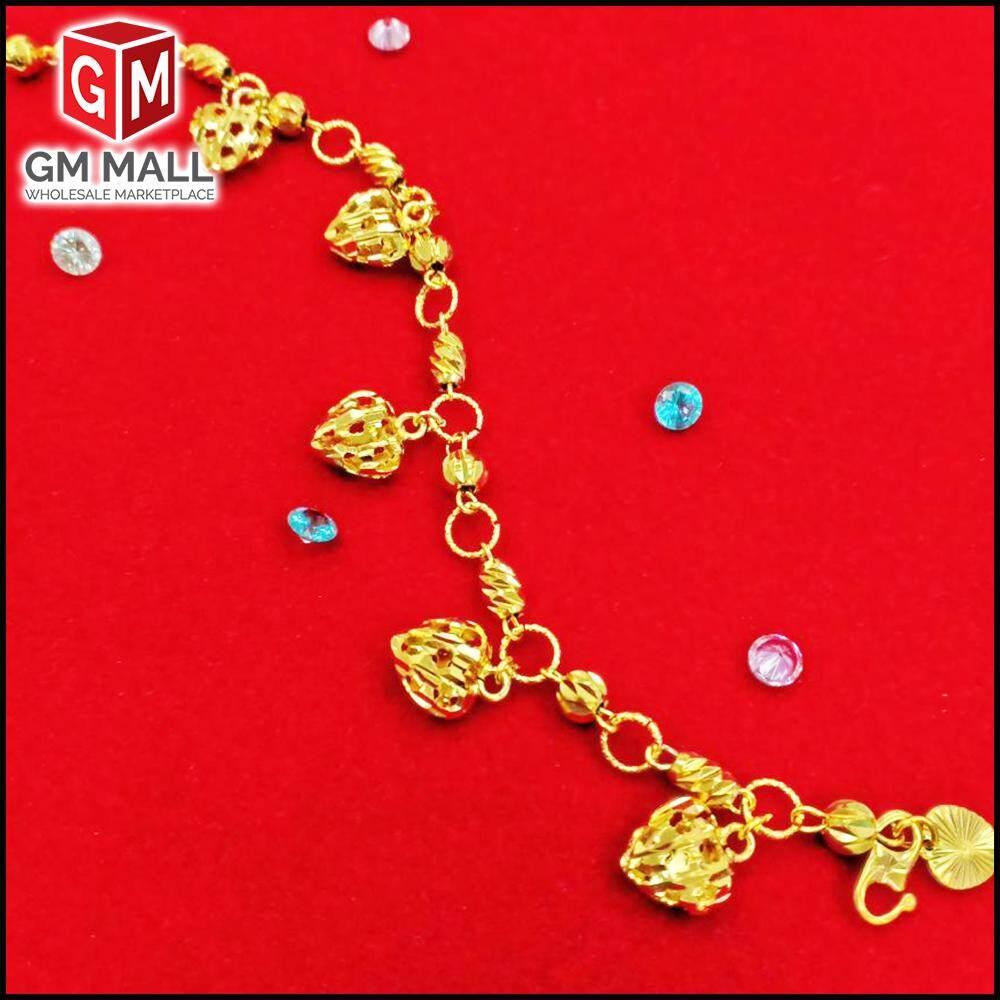 Emas Korea Jewellery - Rantai Tangan + LOVE Gold Plated (Bracelet EK-2006-6)