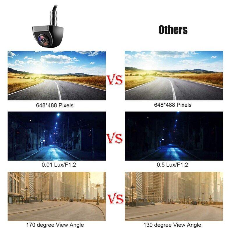 Vehicle GPS - Reversing Camera Dash Dual Blind Zone Rearview Mirror Recorder Night - Car Electronics