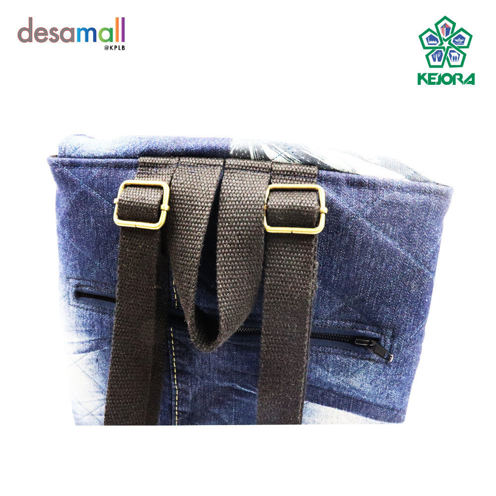 KAY ANIS COLLECTION Handmade Bag Mix Jeans & Fabric Cotton