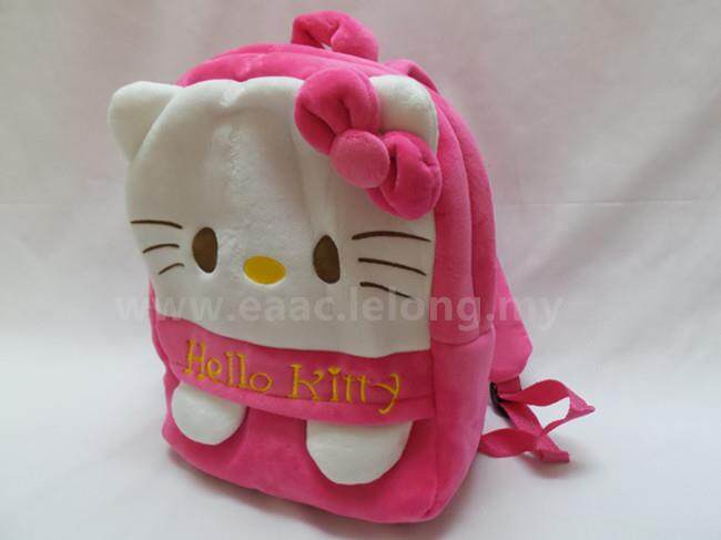 Cute Cartoon Hello Kitty Kid Girl Backpack School Shopping Shoulder Bag (L)