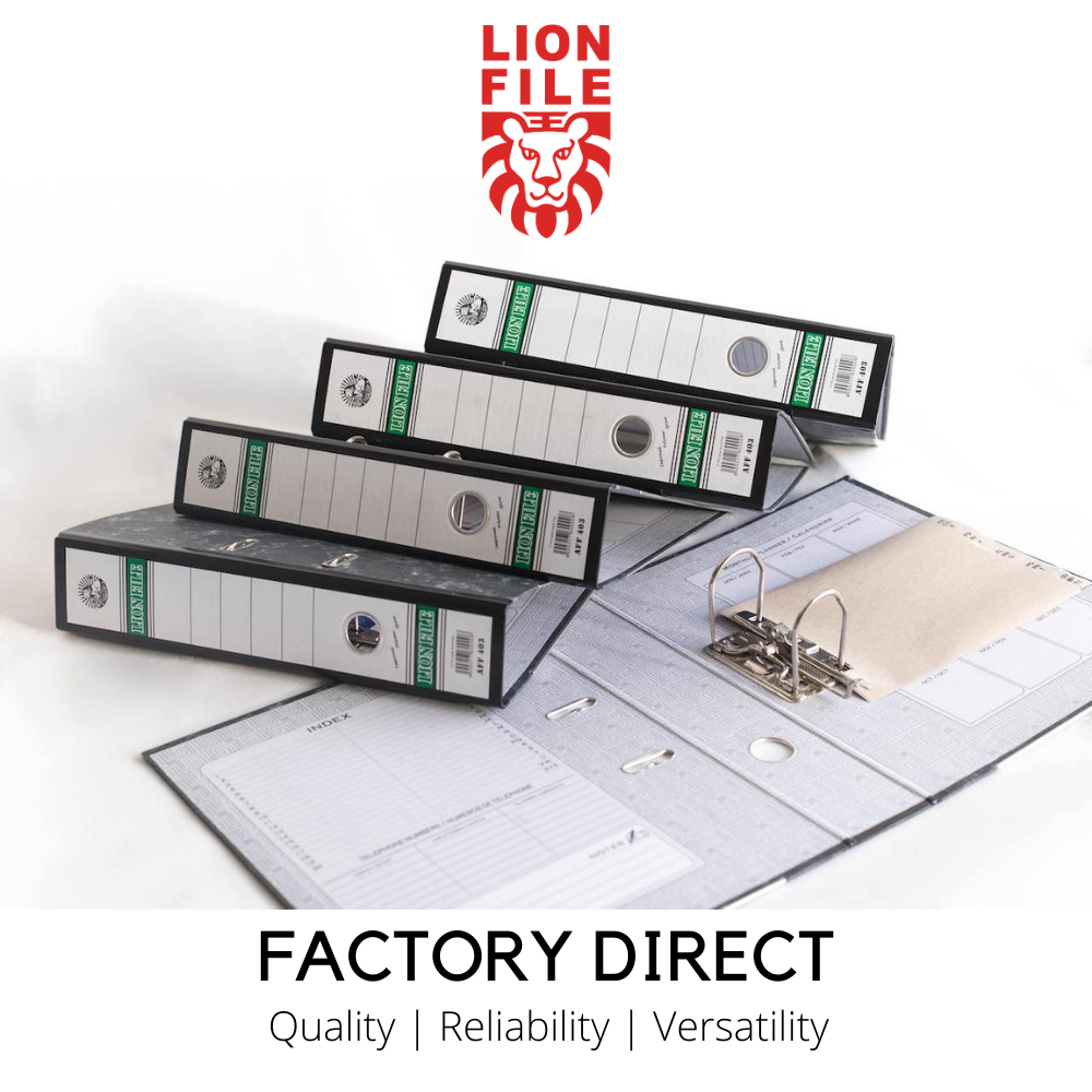 Lion File Arch File F4 3 Inch Spine 30pcs