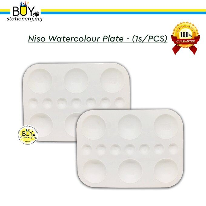 Niso Watercolour Plate - (1s/PCS)