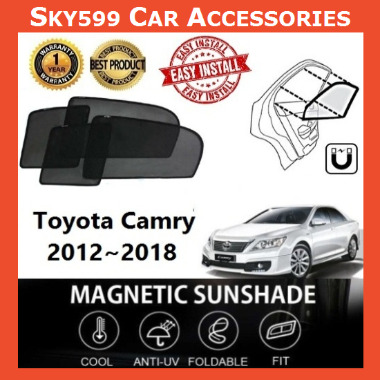 Toyota Camry 2012-2018 Magnetic Sunshade 【4pcs】