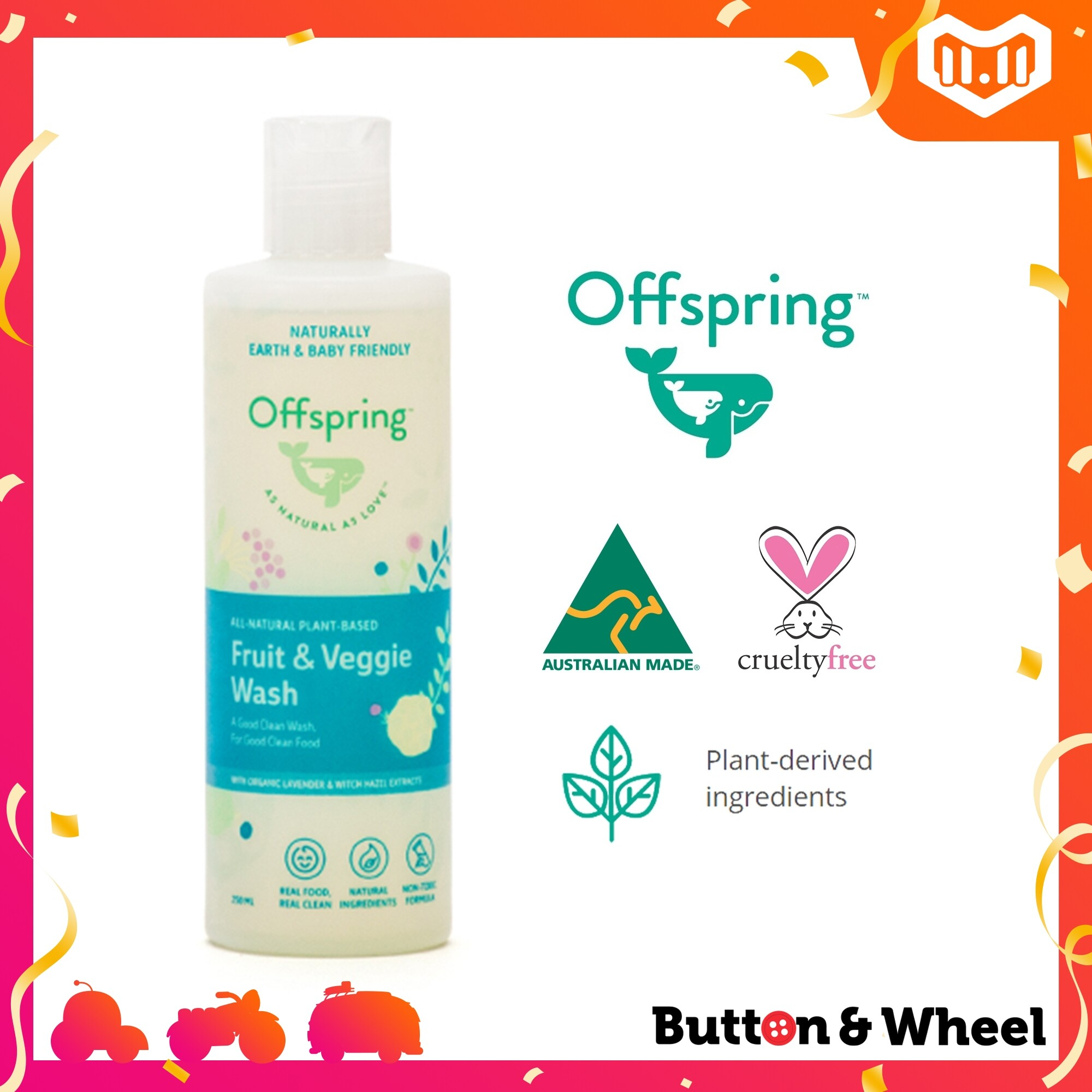 Offspring FRUIT & VEGGIE WASH 250ML:OI-HH-FG-250ML