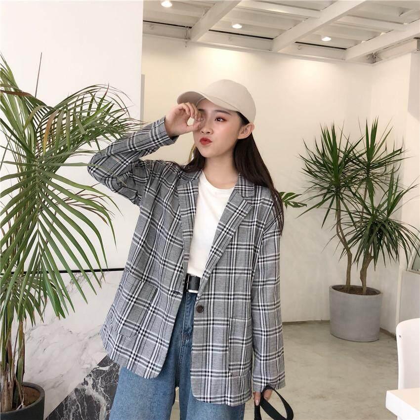 JYS Fashion Korean Style Women Checked Blazer Collection 500 - 1498