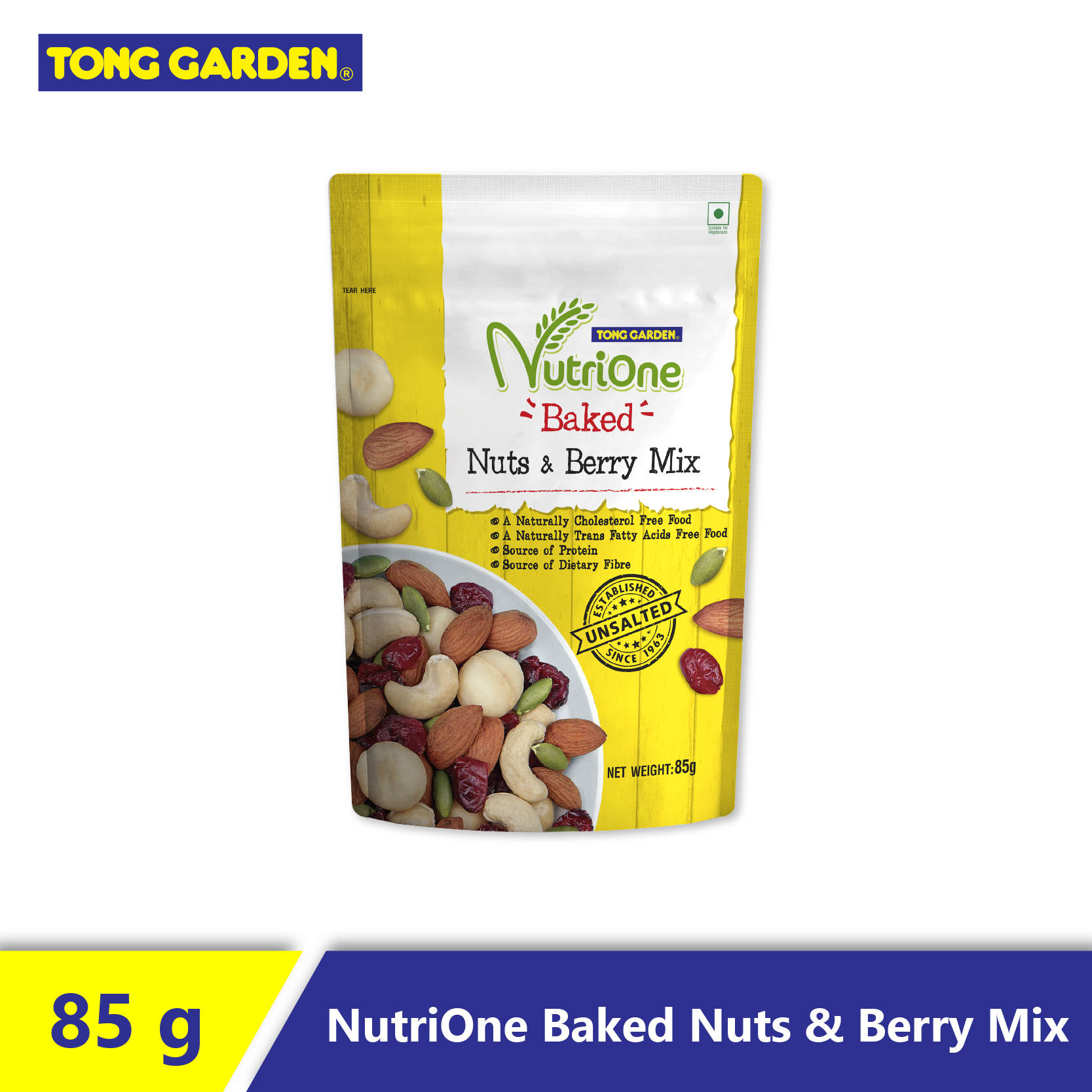 NutriOne Baked Nuts and Berry Mix (Unsalted) 85g