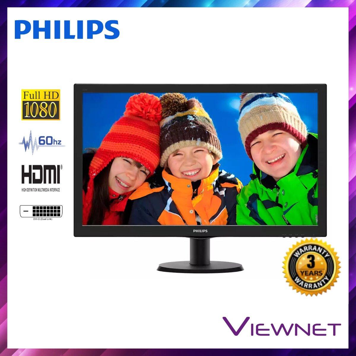 GENUINE PHILIPS LED FLAT FHD 27 273V5LHAB LCD MONITOR (5MS/VGA/DVI/HDMI/VESA/SPK) BLACK