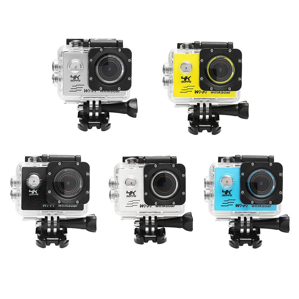 Sports & Action Cameras - SJ8000 Sports Action DV Camera Recorder Waterproof 4K HD 120 WiFi 2.0\'\' LCD - GREY / BLUE / YELLOW / WHITE / BLACK
