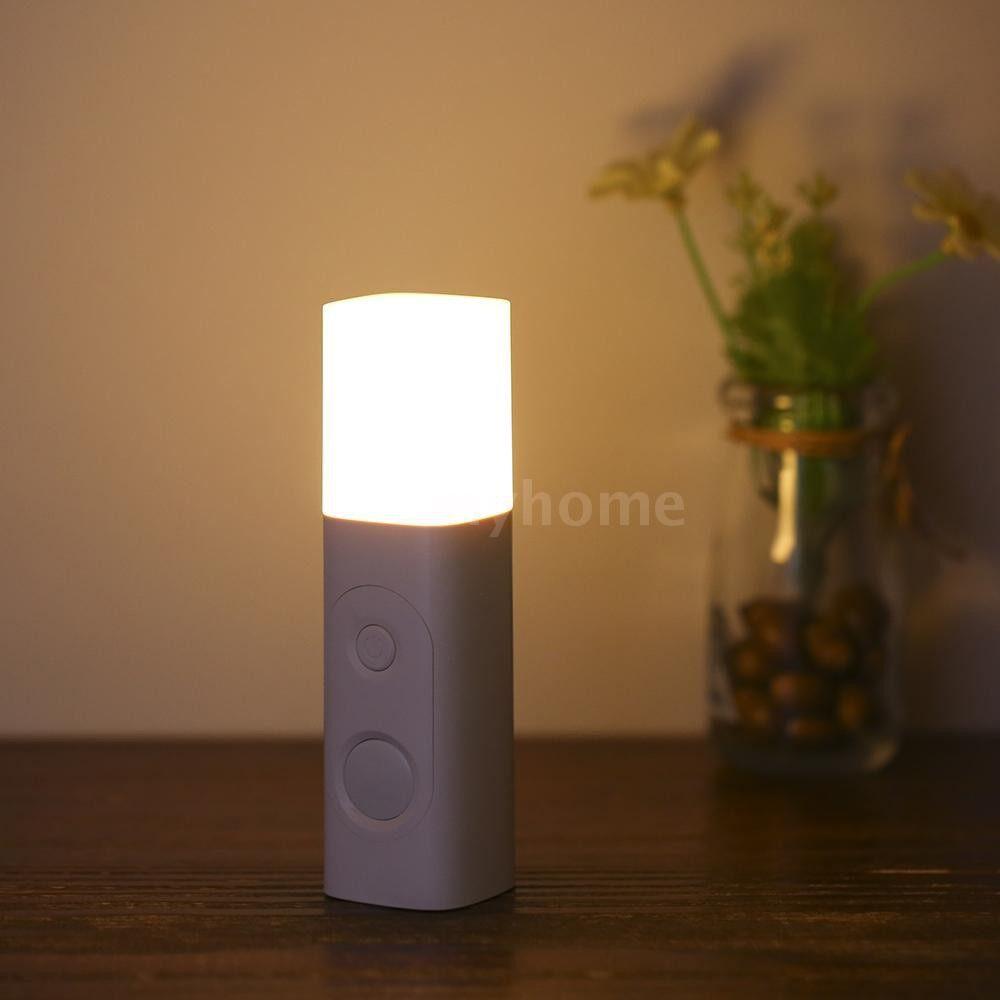 Lighting - 3.7V 0.6W USB Charging Table Lamp Bedside Lamp PIR Motion Sensor Night Light For Kids Reading - WHITE