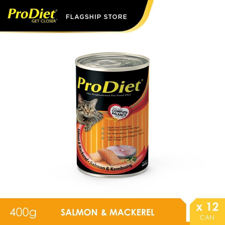 ProDiet 400G Salmon Mackerel Wet Cat Food X 12 Cans