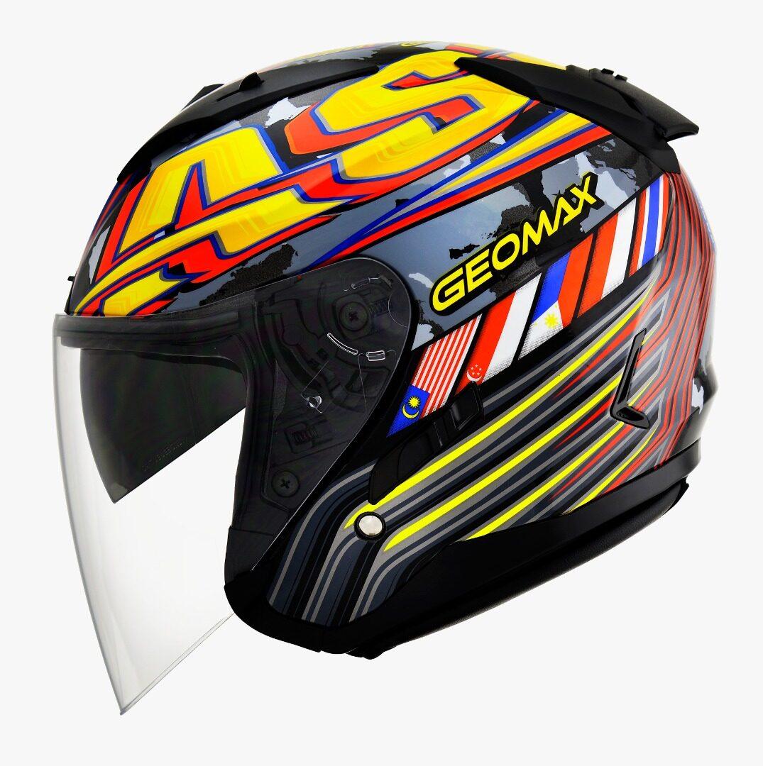 Gracshaw G555 Geomax Design Double Visor Helmet