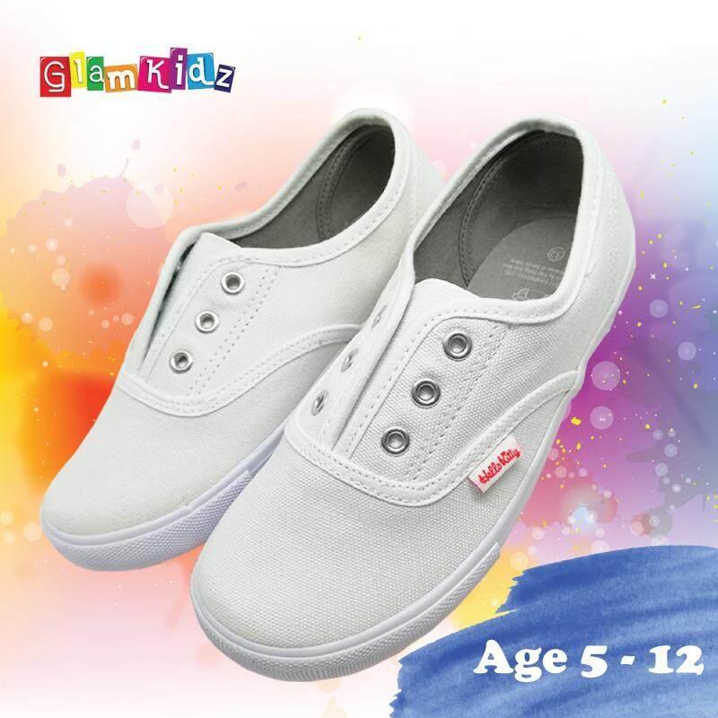 Glamkidz Hello Kitty Kids Shoes School Shoes / Kasut Sekolah Kids Shoes (White) #3-1148 Kasut Budak Perempuan Kasut Kanak Kanak Perempuan Shoes for Children Shoes for Kids Girl Kids Shoes Girl