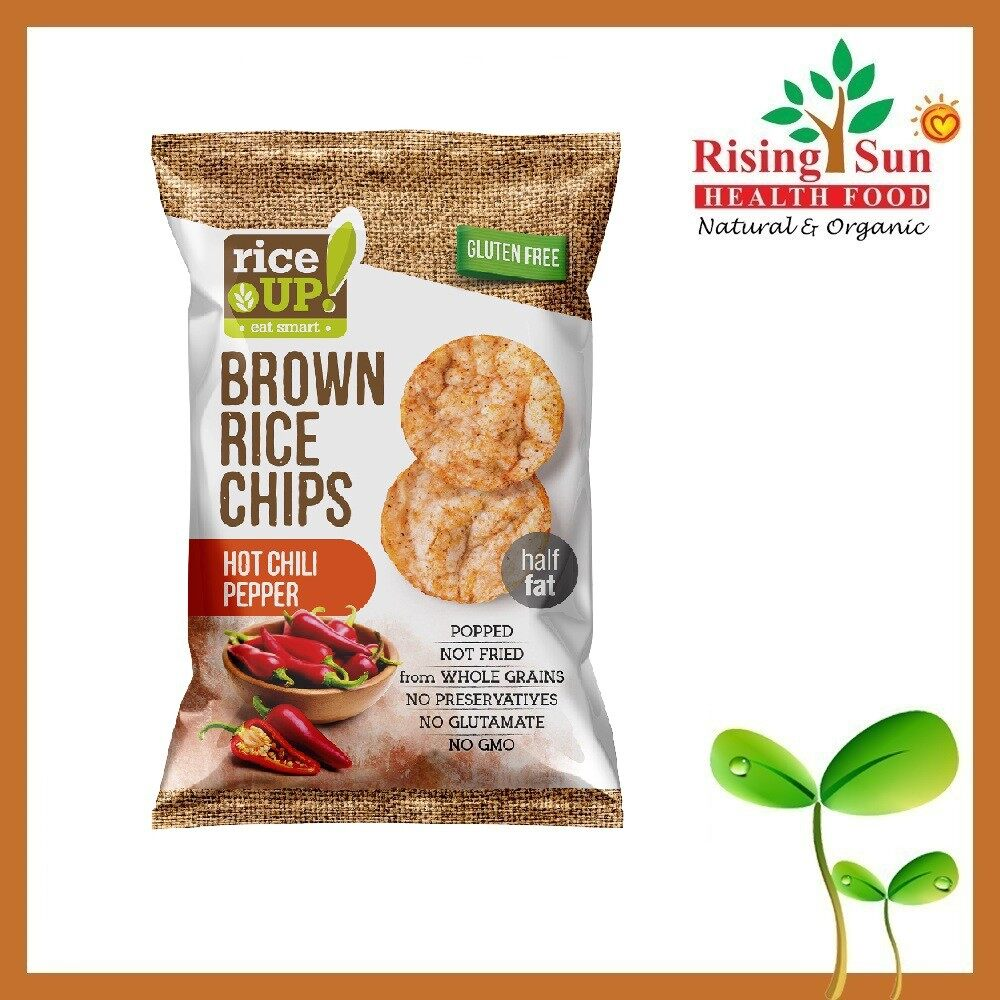 Rice Up Brown Rice Chips With Hot Chili Pepper 65G