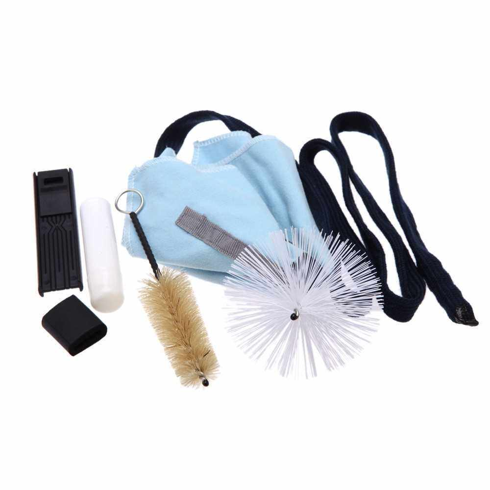 Saxophone Sax Cleaning Tool Cork Grease Brush Cloth Thumb Rest Cushion Reed Case Cleaning Kit (Standard)