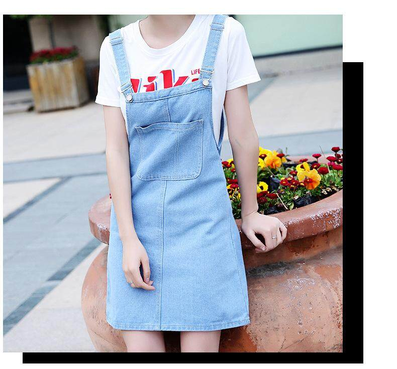JYS Fashion Korean Style Women Jeans Strape Dress Collection 513-4062