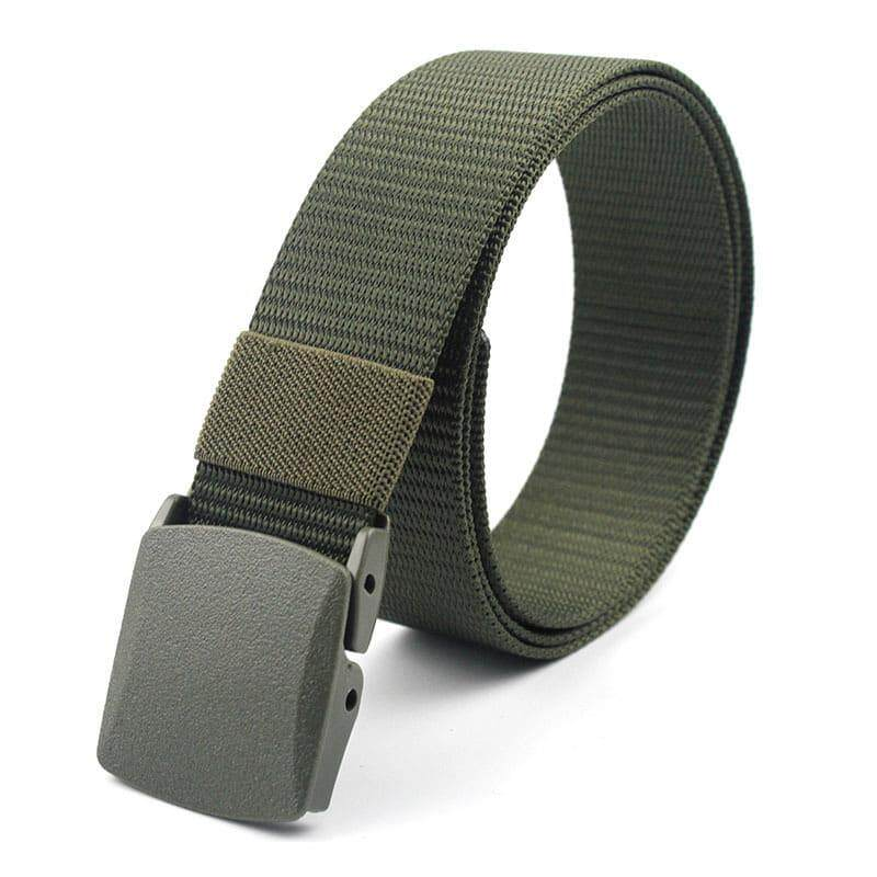 [M'sia Warehouse Direct] 2020 Korean Series Men's Outdoor Tactical Adjustable Automatic Canvas Buckle Belt Heavy Duty Metal Series (Come With Box) Perfect Gift For Love One Luxury Suitable For Formal Wear Jeans Casual Wear Long Lasting Tali Pinggan