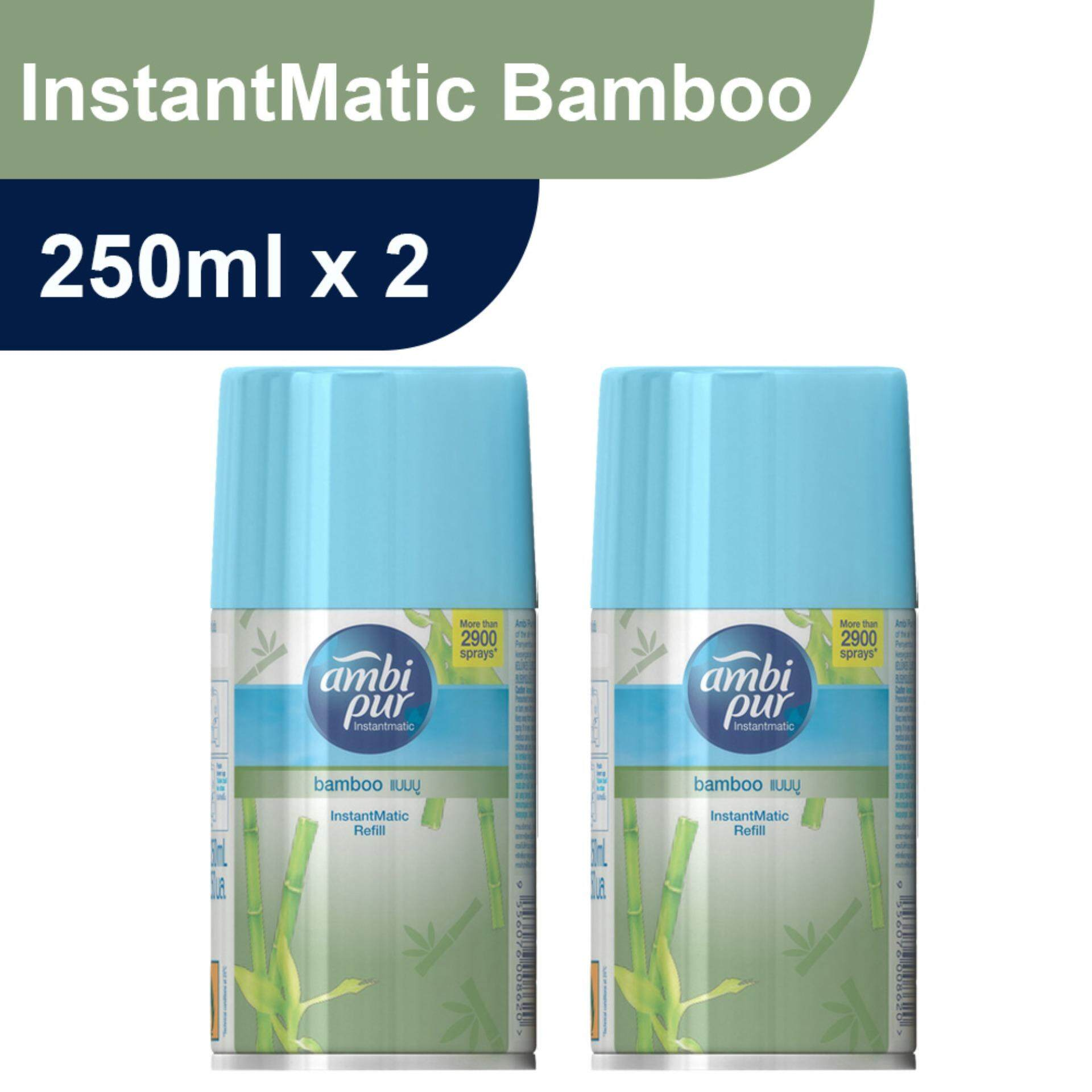 Ambi Pur InstantMatic Bamboo Automatic Spray Refill 250ml Twin Pack