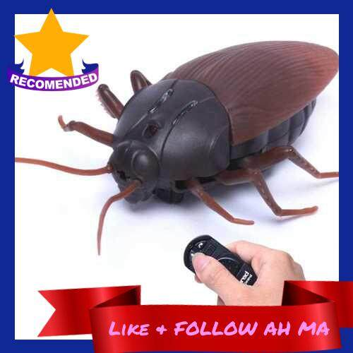 Best Selling Funny Simulation Infrared RC Remote Control Scary Creepy Insect Cockroach Toys Gift For Children ()