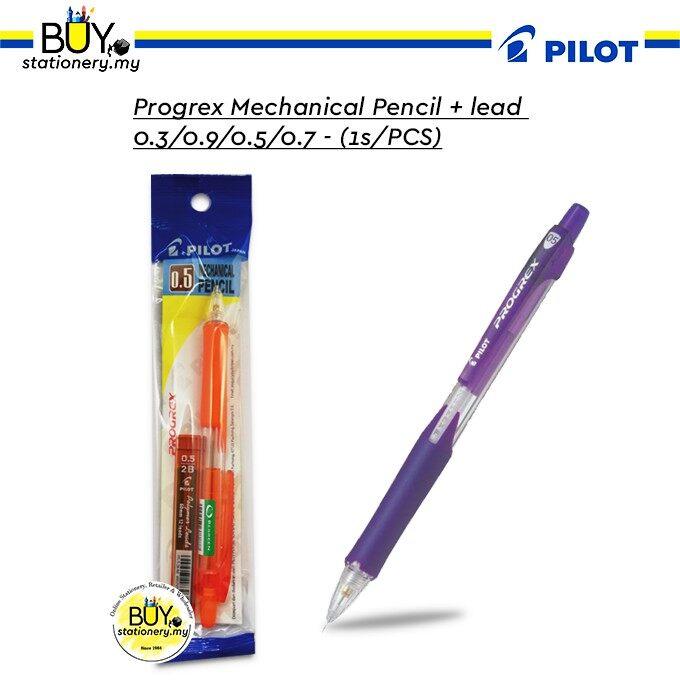 Pilot Progrex Mechanical Pencil + Lead 0.3/0.9/0.5/0.7 - (1s/PCS)