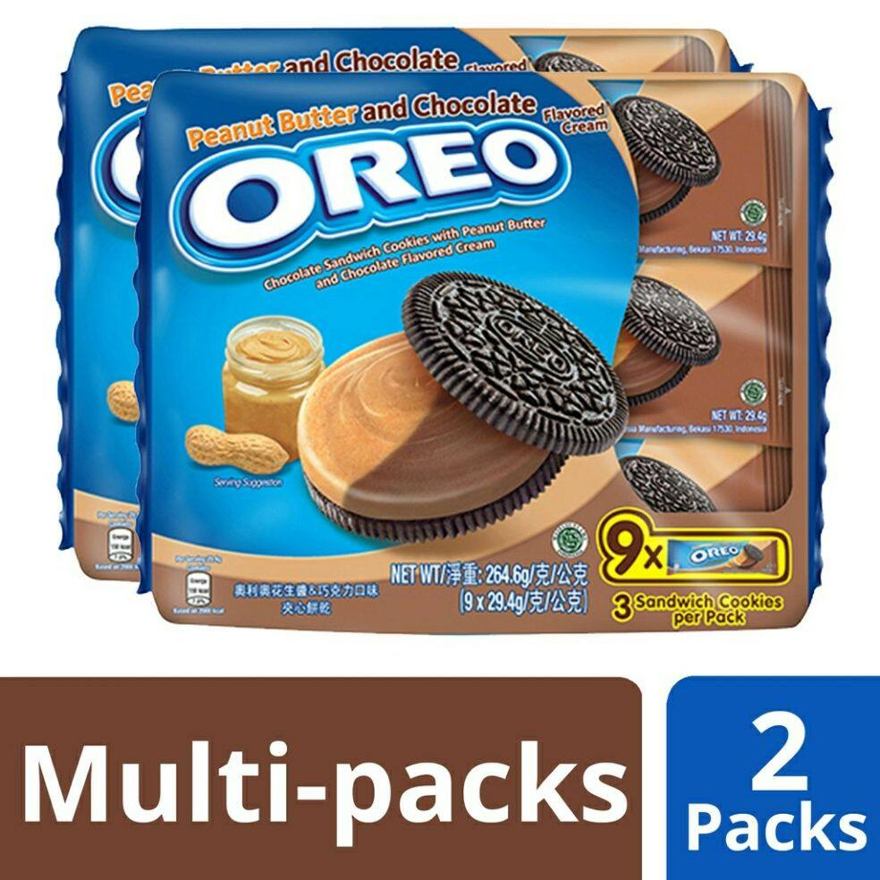 Oreo Peanut Butter&Chocolate Cream (265g x 2) [Multipack]