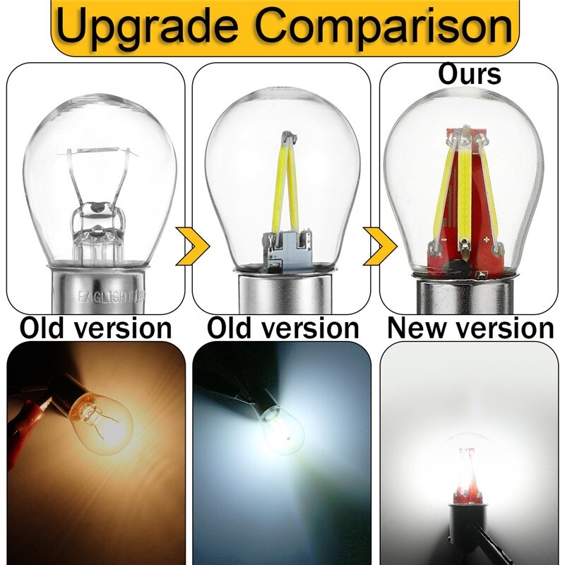 Car Lights - BAY15D 8V-28V 1157 4COB LED Light Bulbs Turn Signal Reverse Interior Lamp - Replacement Parts