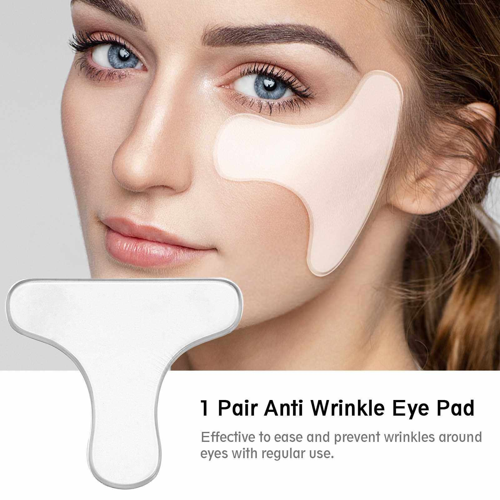 People's Choice 1 Pair Anti Wrinkle Eye Pad Reusable Silicone Eye Stickers Lifting Eye Pads Anti-aging Prevent Crow's Feet Remover Invisible Patches (Standard)