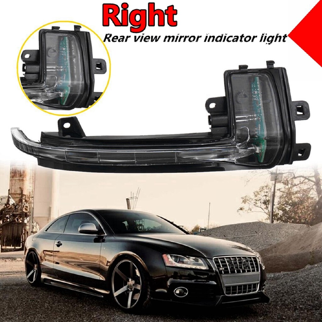Car Lights - Right Side Wing Mirror Turn Signal Light Indicator For AUDI A4 8K B8 A5 S5 A3 Q3 - Replacement Parts