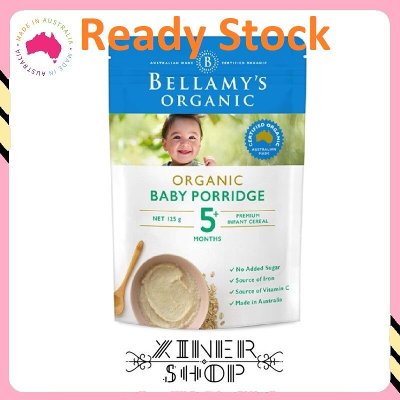 [Ready Stock EXP : 03/2021] Bellamy 's Organic Baby Porridge 5 Months ( 125g )(Made in Australia)