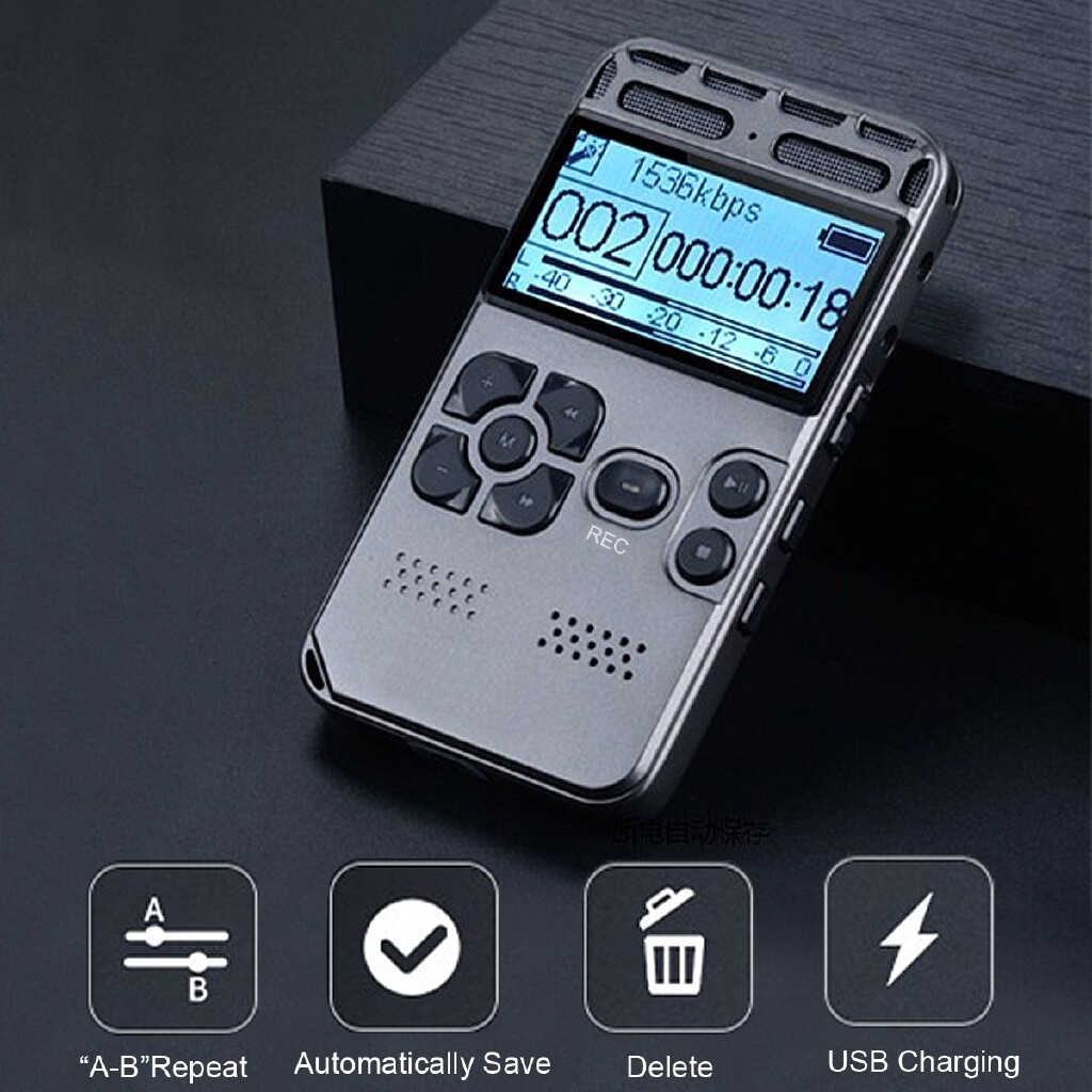 Gadgets - 8GB LCD Digital Audio Sound Voice Recorder Pen MP3 Player 72 Hour Auto Recording - Cool
