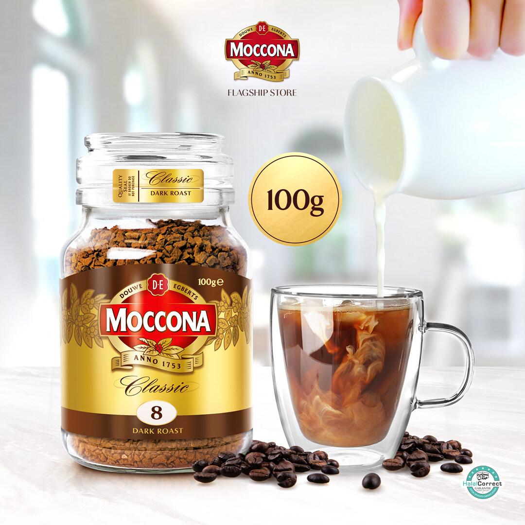 Moccona Classic Dark Roast Freeze Dried 8 Coffee 100g x 1 Jar