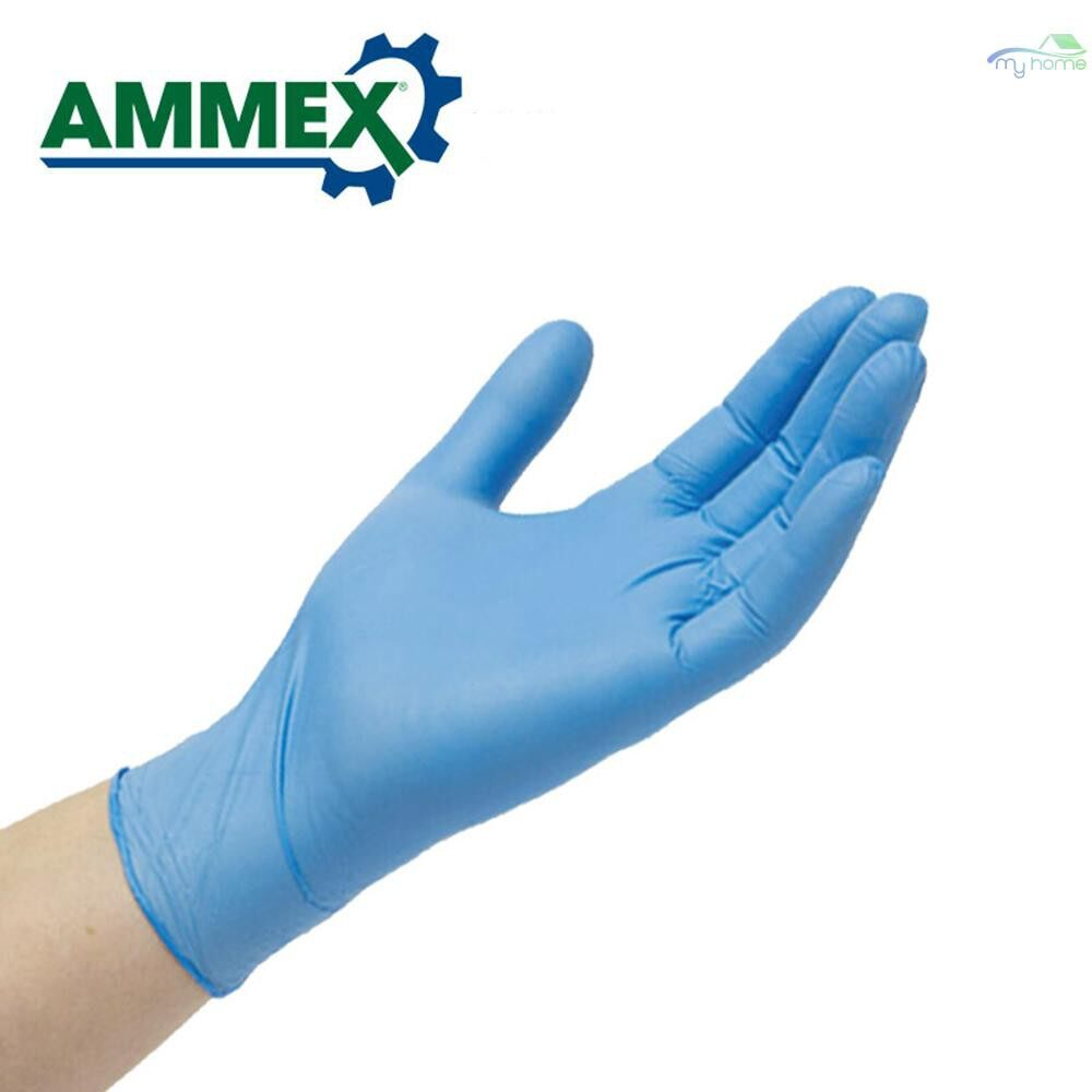 Protective Clothing & Equipment - 100 PIECE(s) Disposable Nitrile Rubber Glove Oil Resistant Puncture-proof Gloves for Labor Home - L / M / S