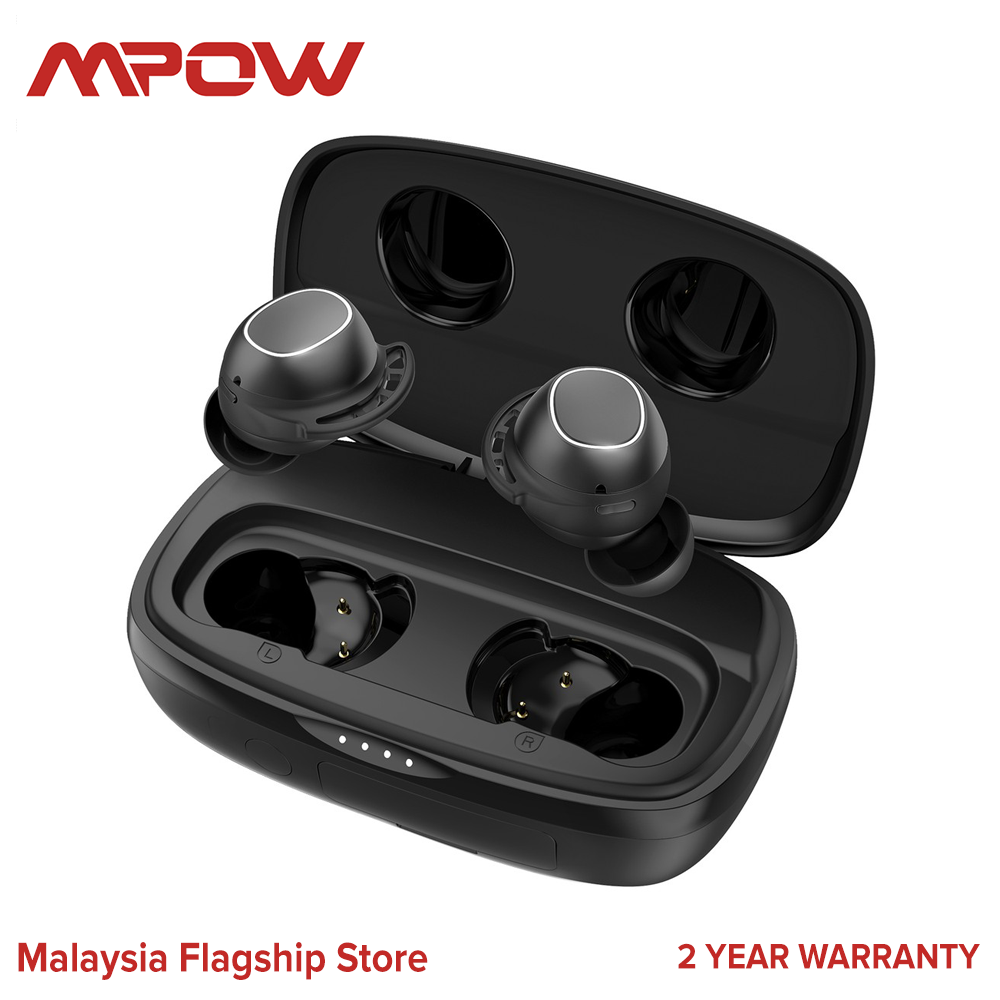 Mpow M30 PLUS Wireless Earbuds with Powerbank Bluetooth Earbuds USB-C Bluetooth Headphones Wireless Earphones with Mic