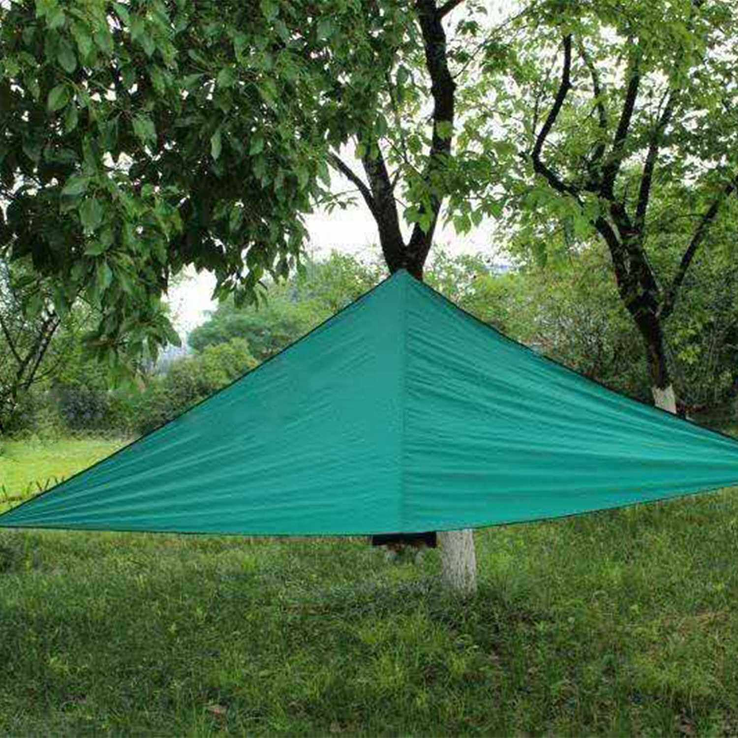 Best Selling 10ft Rain Fly UV Resistant Sun Shade Sail Canopy Waterproof Heavy Duty Triangle 210T Polyester Awning Sand Sunshade for Outdoor Patio Garden Backyard Activities (Dark Green)