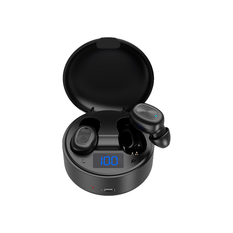 Salpido Wireless Bluetooth Earset TWS 11 with Bluetooth 5.0, LED Display, 4 Hours Play Time