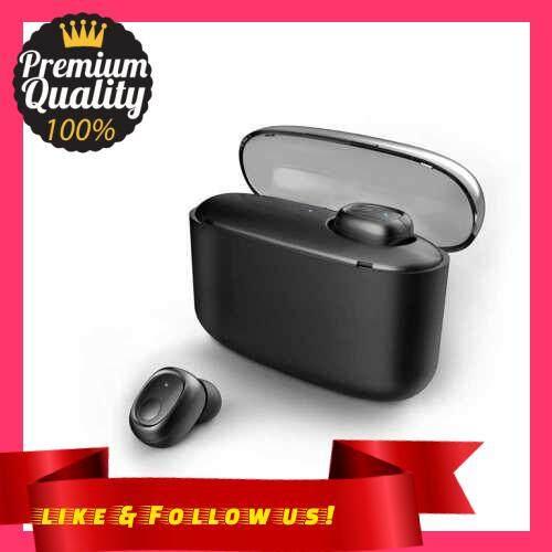 People\'s Choice G5S Bluetooth 5.0 Headphones In-Ear Wireless Earphone Power Bank Business Headset with Mic Handsfree Earbuds Mini Smart (Black)