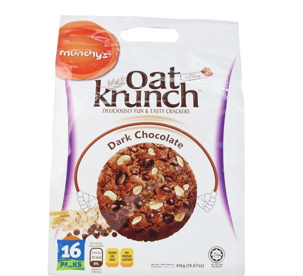 Munchy's Oat Krunch Dark Chocolate Cracker (416g)