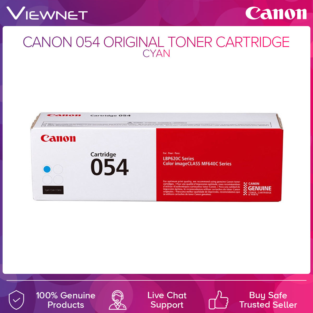 Canon 054 Original Toner Cartridge Black  Cyan  Magenta  Yellow