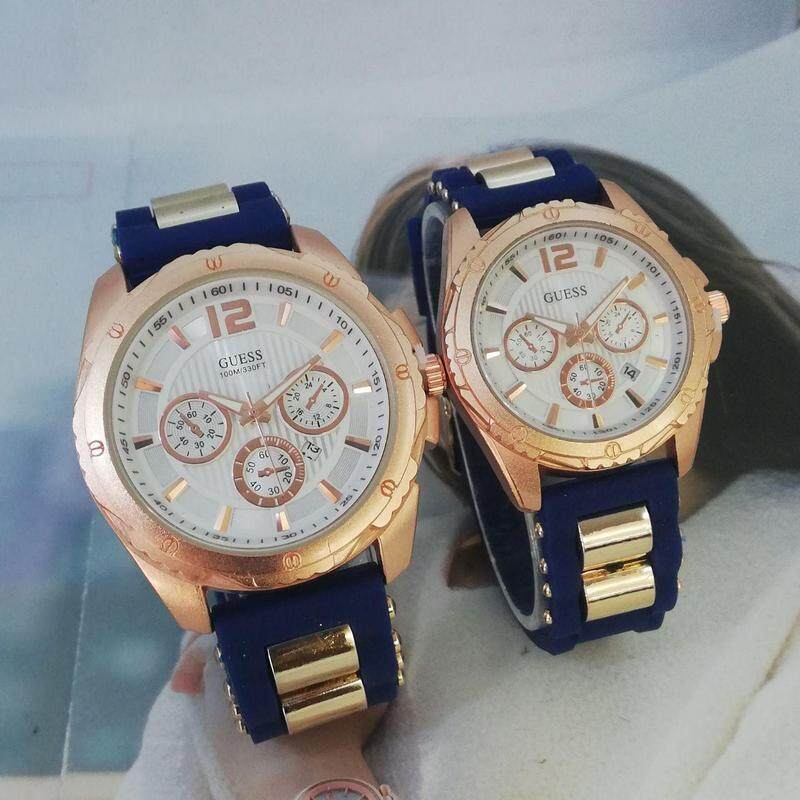 GUESS_ANALOG FUNCTION PREMIUM QUALITY COUPLE SET WATCHES
