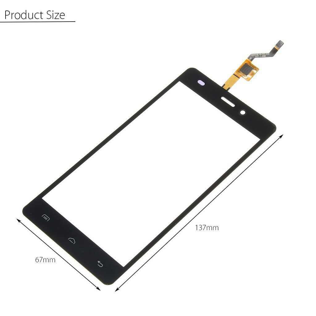 Cool Gadgets - Black Touch Screen Digiziter Replacement Part + Tools For Doogee X5 / X5 Pro - Mobile & Accessories
