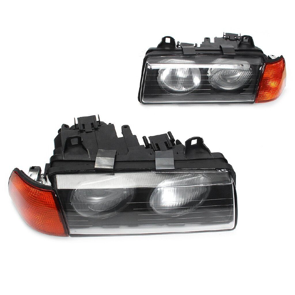 Car Lights - 2x Amber Euro Corner Light Cover For BMW E36 3-Series Coupe/Convertible 2D 92-99 - Replacement Parts