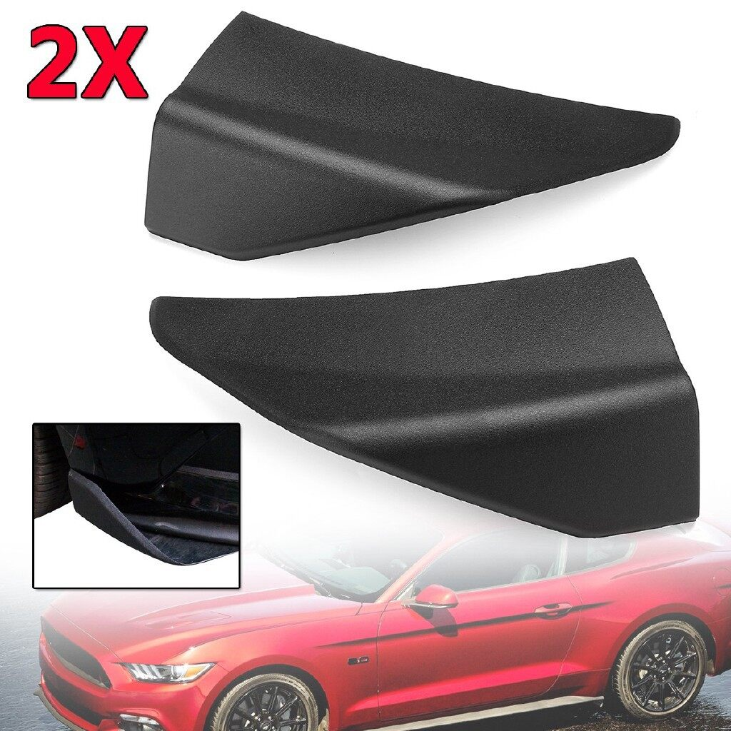 Automotive Tools & Equipment - 2 PIECE(s) Matte Black ABS Front Front Bumper Lip Splitter For Ford Mustang 2015-2017 - Car Replacement Parts