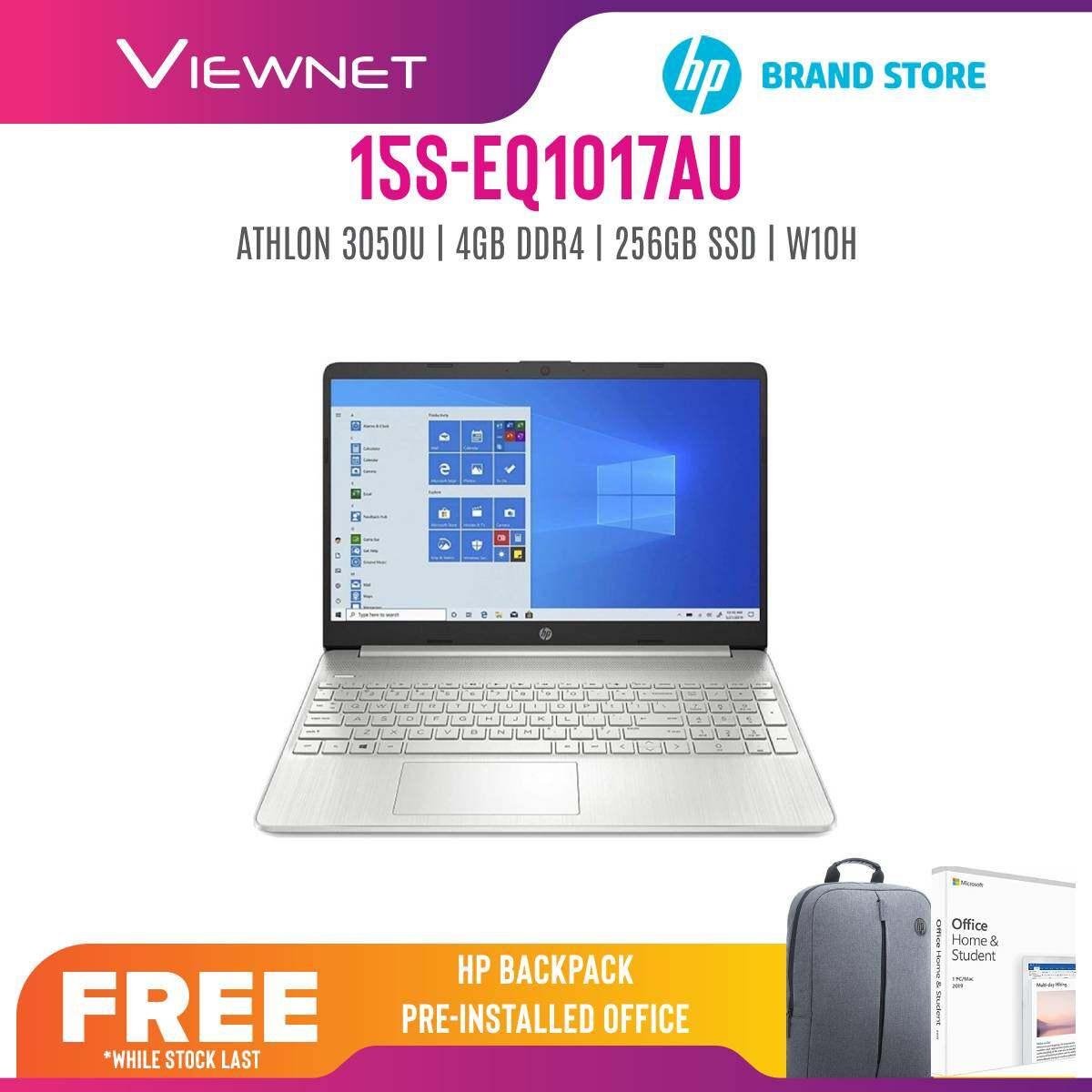 """HP Laptop 15s-eq1017au- AMD Athlonâ""""¢ Gold 3050U/ 4GB SDRAM/ 256GB SSD/ WIN 10/ 15.6"""