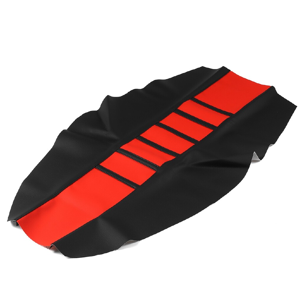 Moto Accessories - Motorcycles Seat Cover Dirt Bike Off-road Gripper Soft Leather Striped Design - GREEN / BLACK / RED / BLUE