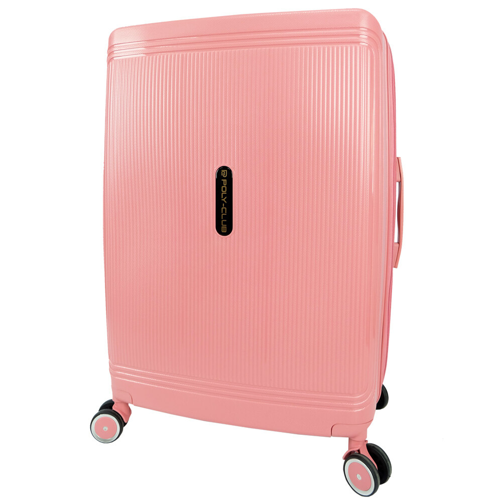 Poly-Club BA9924 20inch Unbreakable PP Hard Case Trolley Travel Luggage with Anti-theft Zipper
