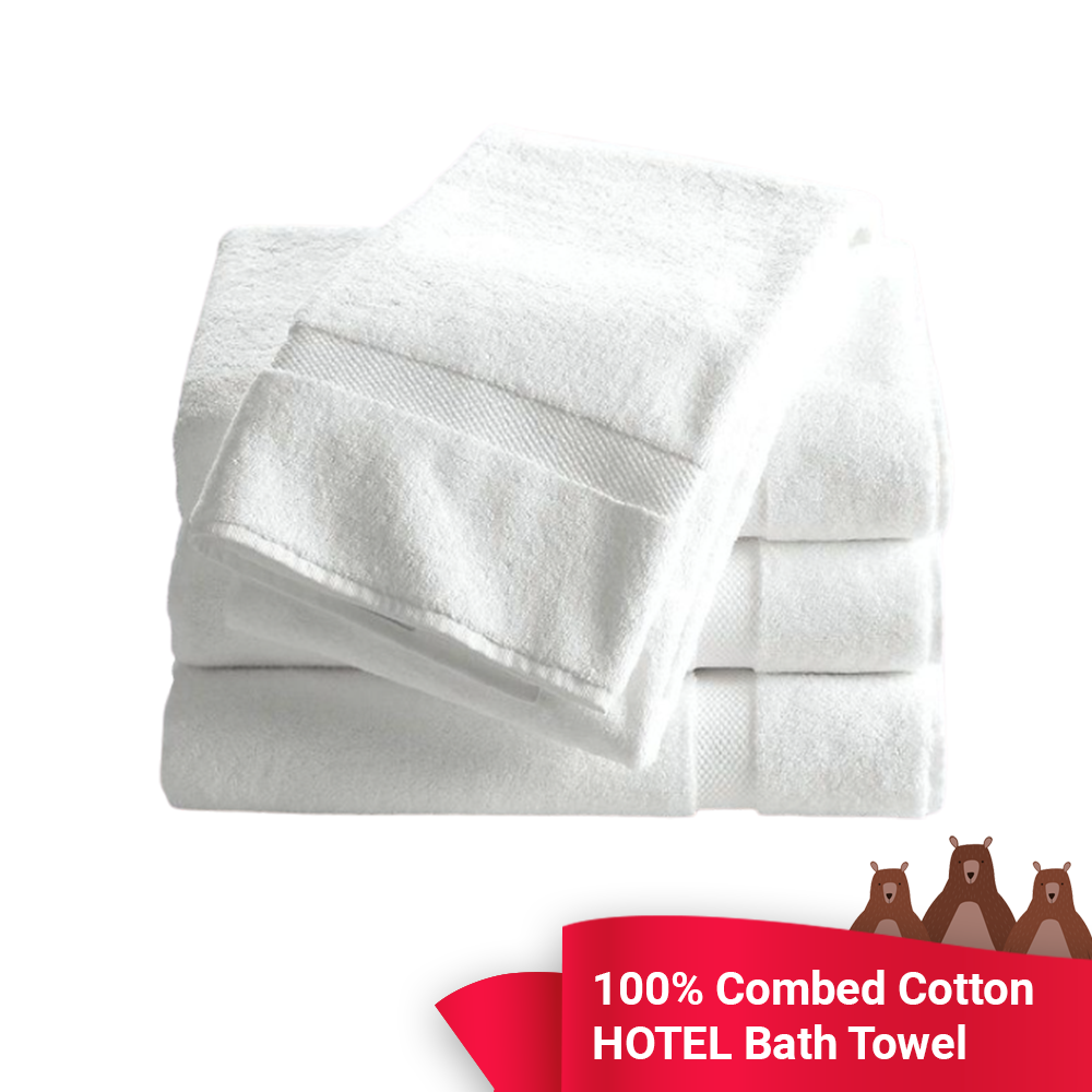 Hotel Towel: super Quality Hotel Bath Towel: 100% Combed Cotton 16 yarn ~ Local Seller ~ Same day Shipping  Factory Clearance